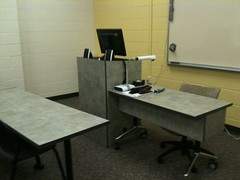 Custom Lectern Mobile Desk Combination