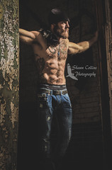 Model Josh (Shawn Collins Photography) Tags: model modeling male malemodel built muscular masculine muscles tone ripped beard bearded hairy hairychest hairymodel bald shaved dirty lumberesexual handsome sexy guys tough redneck rough tattoo tattood dirtyjobs