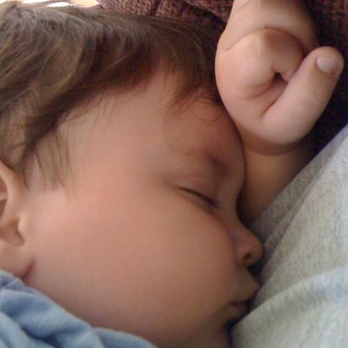 Fast asleep post nursing