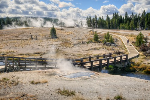 Stef Walks the Upper Geyser Basin
