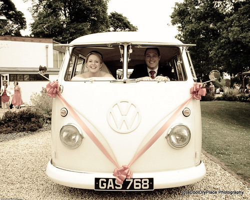 Chris and Laura in the VW camper