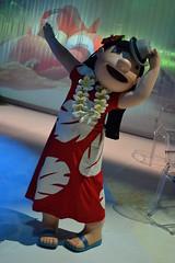 Meeting Lilo at Stitch's Hawaiian Paradise Party (Castles, Capes & Clones) Tags: paris france disney hawaiian lilo disneylandparis disneycharacters marnelavallée lilostitch disneyvillage stitchshawaiianparadiseparty