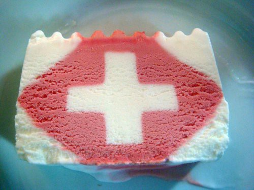 Swiss Flag Ice Cream