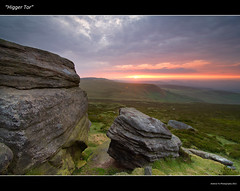 """Sunset from Higger Tor"" 