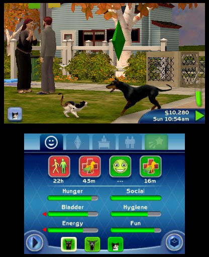 The Sims 3 Pets Dog and Cat Fight