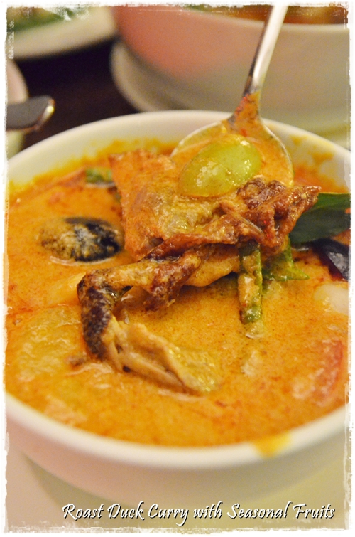 Roast Duck Curry with Fruits