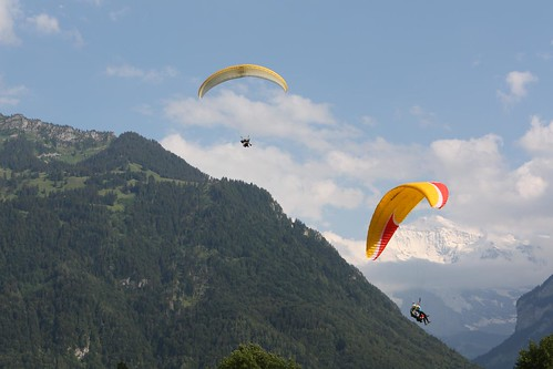 Hang Gliders in Interlaken