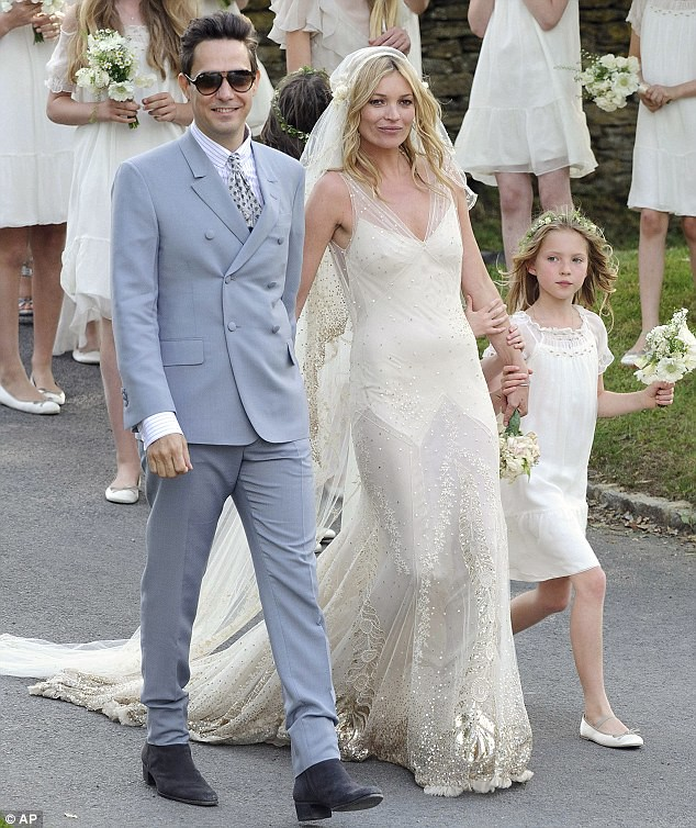 Mrs Rock Chick now! Beaming Kate Moss gets hitched to Jamie Hince with daughter Lila among the 15 bridesmaids  2