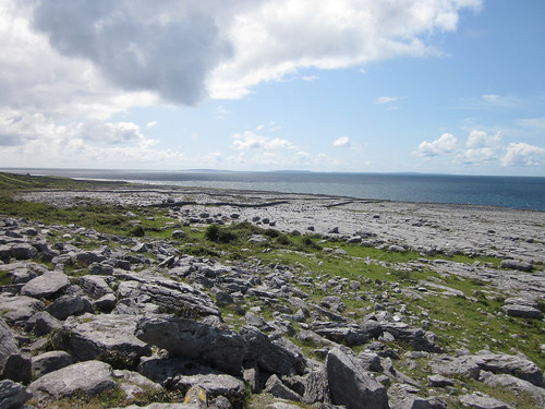The Burren reaches all the way to the Atlantic