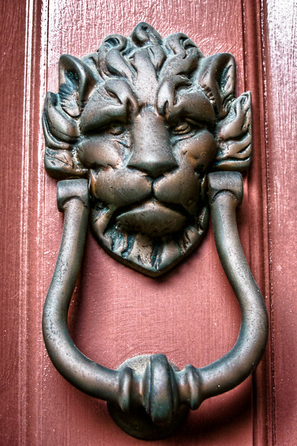 Charleston Door Knocker - Lions Head