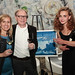 Lisa Mattson of Jordan Winery and David Gadd of The Tasting Panel Magazine with Artist Agne Jomantaite and her grand-award-winning art, \