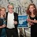 Lisa Mattson of Jordan Winery and David Gadd of The Tasting Panel Magazine with Artist Agne Jomantaite and her grand-award-winning art, \