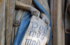 Scroll detail: Claus Sluter, Well of Moses, 1395-1405