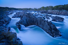 Great Falls Blues ([Chris Tennant]) Tags: longexposure water rock canon virginia nationalpark nps dusk greatfalls maryland le waterfalls cascades potomac bluehour 1635mm 5dmkii christennantphotography