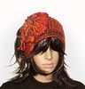 Burnt orange crochet headband - 1 (renatekirkpatrick) Tags: crochetflowers cowl earwarmers crochetheadband