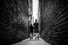 Walk towards the light (Joris_Louwes) Tags: family father perspective tunnel parent society widower