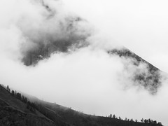 no blue sky today (nicolasheinzelmann) Tags: bw mountains juni clouds digital landscape schweiz switzerland flickr fuji nebel wolken berge sw fujifilm kandersteg aussicht schwarzweiss landschaft bume x10 bewlkt fujifilmx10 fujinonasphericallens nicolasheinzelmann fujix10 10juni2012