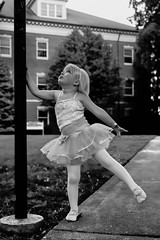 Bella (JLBowers) Tags: school light portrait blackandwhite bw ballet usa girl look canon pose photography photo dance ballerina day looking dancing little young blonde bella 1ds lightpole tenneessee jlbowers