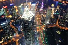 Jin Mao tower (bennychun) Tags: world china sky money west tower heritage skyline modern skyscraper temple shanghai space east highrise lamb rocket pearl orient icc ifc hsbc bund jinmao finance peoplessquare worldexpo swfc waitan