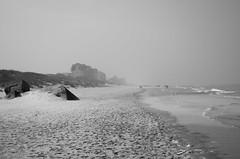Fog - Bray-Dunes (littlelionman97) Tags: photo beach fog sea water sand building bunker apartments sky mist brouillard france nord braydunes pentax k50 pentaxk50 europa europe