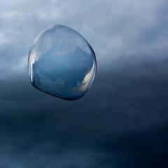 Quiet before the storm (Livietta) Tags: sapone bolladisapone soap bubble cielo cascine firenze cirkfantastik acqua temporale storm blue nienteeperfetto soapbubble square explore