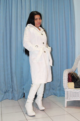 White Hooded Trench (johnerly03) Tags: erly philippines asian filipina filpino fashion white high heel knee boots hooded trench coat raincoat mac