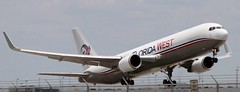 Florida West Boeing B767-316FER (WL) MSN 30842 LN 860 (Gene Delaney) Tags: west florida mia msn boeing wl ln runway9 860 miamiinternationalairport dadecounty kmia 30842 b767316fer
