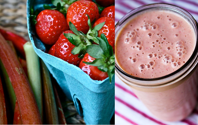 rhubarb strawberry mango smoothie