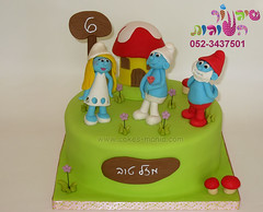 the smurfs cake by cakes mania       (cakes-mania) Tags: cake children topper