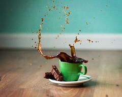 waste of perfectly good coffee... (~ cynthiak ~) Tags: coffee chocolate splash biscotti hcs oooops espressocup fgr cookiesplash clichesaturday