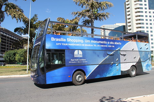 Brasilia's sightseeing on double-decker bus