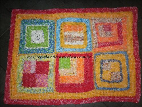 Tapete retangular croche 002 by Teciclando artes em tecidos