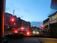 Red lights in Bray