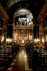 Chiesa di Gesù e Maria (Toni Kaarttinen) Tags: city italien italy rome roma church night dark italia roman maria altar chiesa e di rom italie lazio romo gesù chiesadigesùemaria italio
