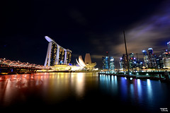 singapore at night - D800 @ 14mm (Teo Morabito) Tags: night landscape nikon singapore d800