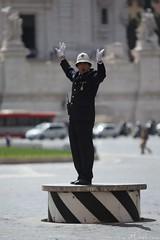 """Il Vigile"" @ Piazza Venezia (luca.micheli) Tags: rome roma pantheon lungotevere fullframe sanpietro 1740 castelsantangelo colosseo ef1740f4l canon5dmarkiii canon5diii lucamichelicom 5diii wwwlucamichelicom"