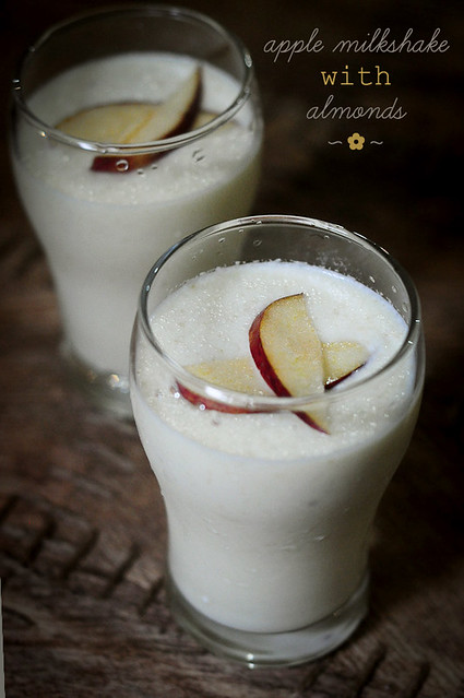 Apple Milkshake with Almonds | Recipe