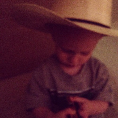 Little Cowboy before bedtime... #goodnight