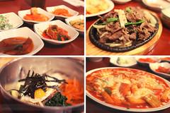 Korean Dinner (Alexander Tran | atranphoto.com) Tags: food boston dinner korea korean chan ban bibimbap bulgogi buk allston kyung dukbokki bukkyung ddukbokki atran atranphotography atranphoto