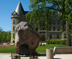 The Great Rock Climb (Cindy's Here) Tags: canada rock canon campus winnipeg boulder manitoba granite uofw universityofwinnipeg wesleyhall scavchal greatrockclimb