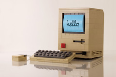 Hello (powerpig) Tags: macintosh mac lego nostalgia 1984 128k