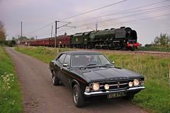 Cortina.Duchess.Sutton.4.5.14 (deltic17) Tags: cortina steamtrain fordcortina duchessofsutherland 46233 mk3cortina