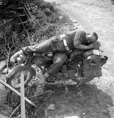 "motorcycle in Falaise, France - 13 August 1944 • <a style=""font-size:0.8em;"" href=""http://www.flickr.com/photos/81723459@N04/14012622370/"" target=""_blank"">View on Flickr</a>"