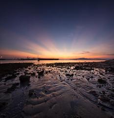 Path to Light (AlawnK) Tags: sunrise sand singapore seascapes patterns punggolend punggolbeach