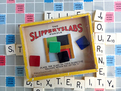 Journet Slippery Slabs puzzle (humberama) Tags: old game glass vintage hand top retro puzzle held slippery slabs dexterity journet retrorjournetdexteritypuzzlehandheldgame