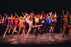 Cast members of A Chorus Line, produced by Music Circus at the Wells Fargo Pavilion June 24 – 29, 2014. Photos by Charr Crail.