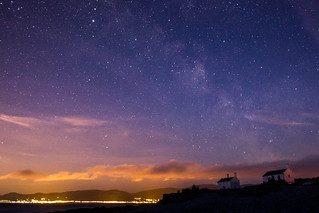 Milky way over Penmon cottages