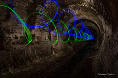 Thrill Spin (darkday.) Tags: blue urban woman storm lightpainting hot sexy green water beautiful danger underground concrete photography graffiti photo shoes aqua long exposure risk pics explorer extreme pipe australian australia tunnel pic brisbane adventure drain explore mum mature photograph urbanexploration infiltration attractive qld queensland lovely aussie exploration seeker milf hacking stormdrain thrill ue adventurer fetching urbex queenslander darkie racy appealing comely reversespin brickdrain