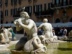 Triton - Fontana del Moro - Piazza Navona - Rome - July 2016 c1 (litlesam1) Tags: italy rome soloromejuly2016 july2016 fountains