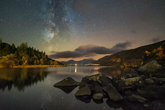'Magical Mymbyr' - Snowdonia (Kristofer Williams) Tags: night sky stars calm lake reflection wales llynmymbyr milkyway astro astrophotography nightscape landscape mountains snowdon autumn trees snowdonia